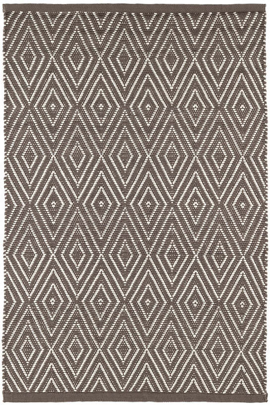 Diamond Charcoal/Taupe Indoor/Outdoor Rug