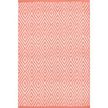 Diamond Coral/White Indoor/Outdoor Rug