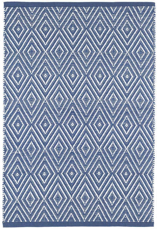 Diamond Denim/White Indoor/Outdoor Rug