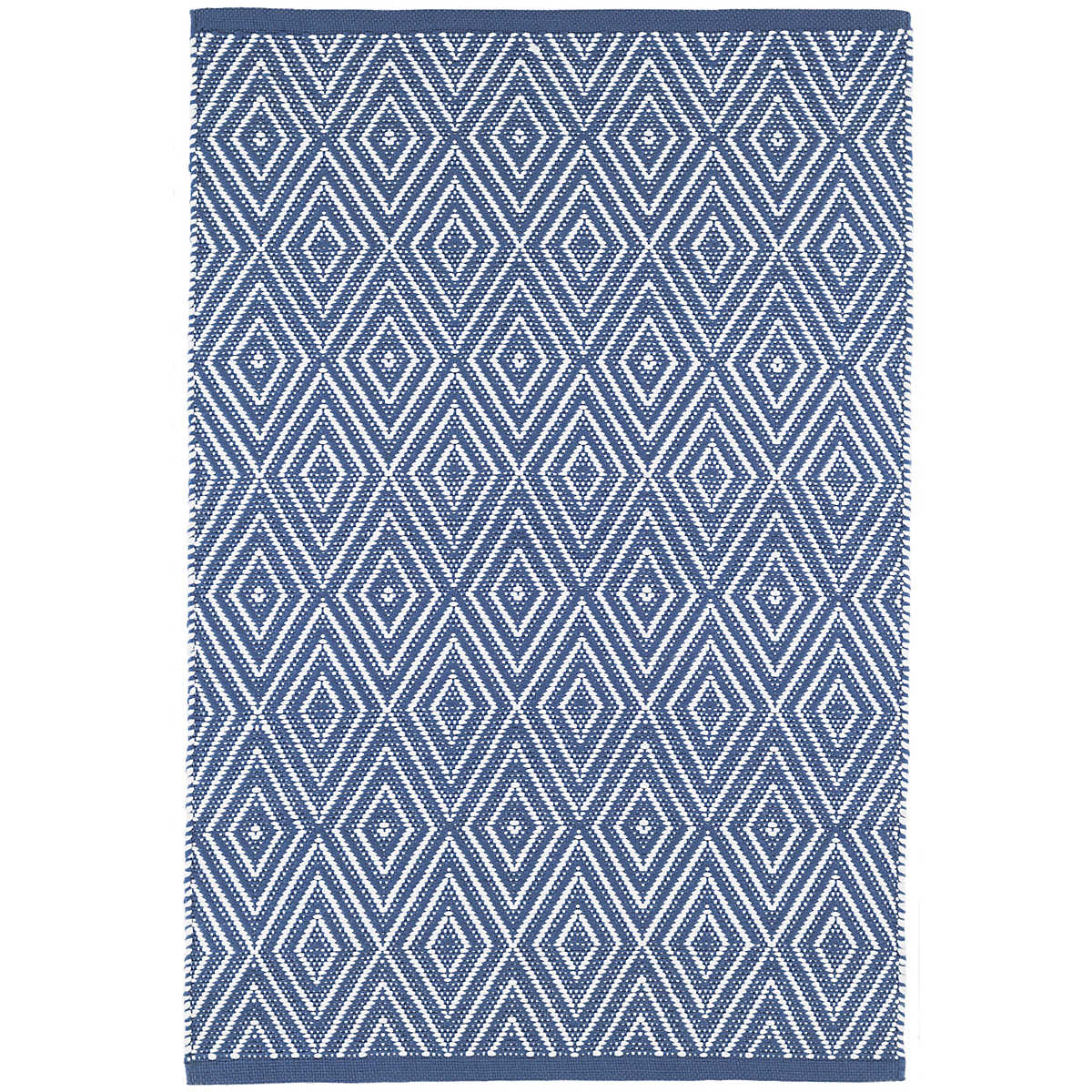 Diamond Denim/White Indoor/Outdoor Rug | Dash & Albert