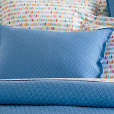Diamond French Blue Matelassé Pillowsham
