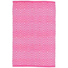 Diamond Fuchsia/White Indoor/Outdoor Rug