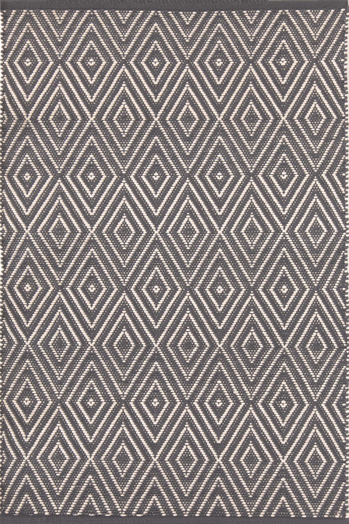 Diamond Graphite/Ivory Indoor/Outdoor Rug | Dash & Albert