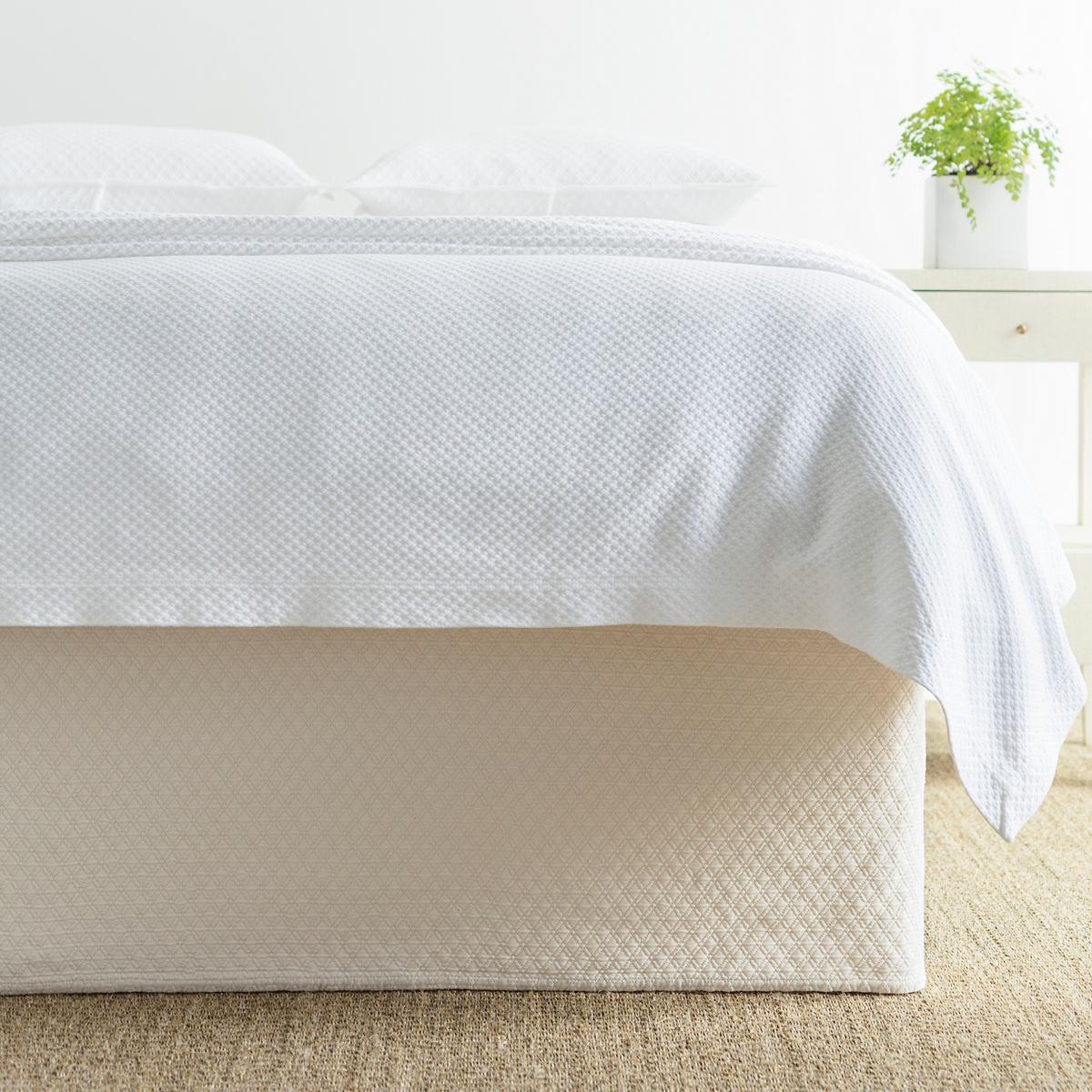 Diamond Ivory Matelassé Bed Skirt