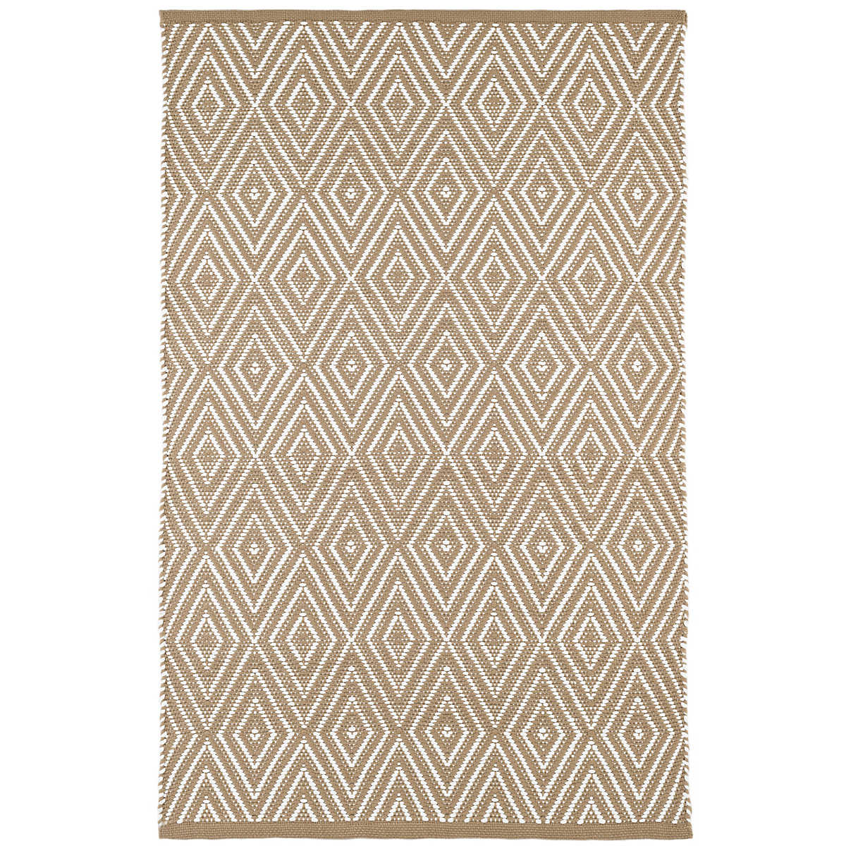 Diamond khaki white indoor outdoor rug dash albert for Dash and albert runners