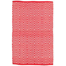 Diamond Red/White Indoor/Outdoor Rug