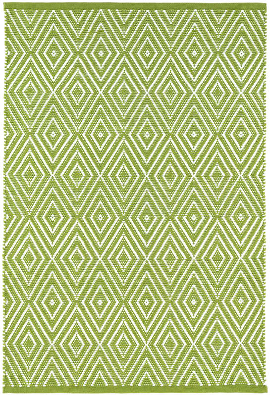 Diamond Sprout/White Indoor/Outdoor Rug | Dash & Albert | title