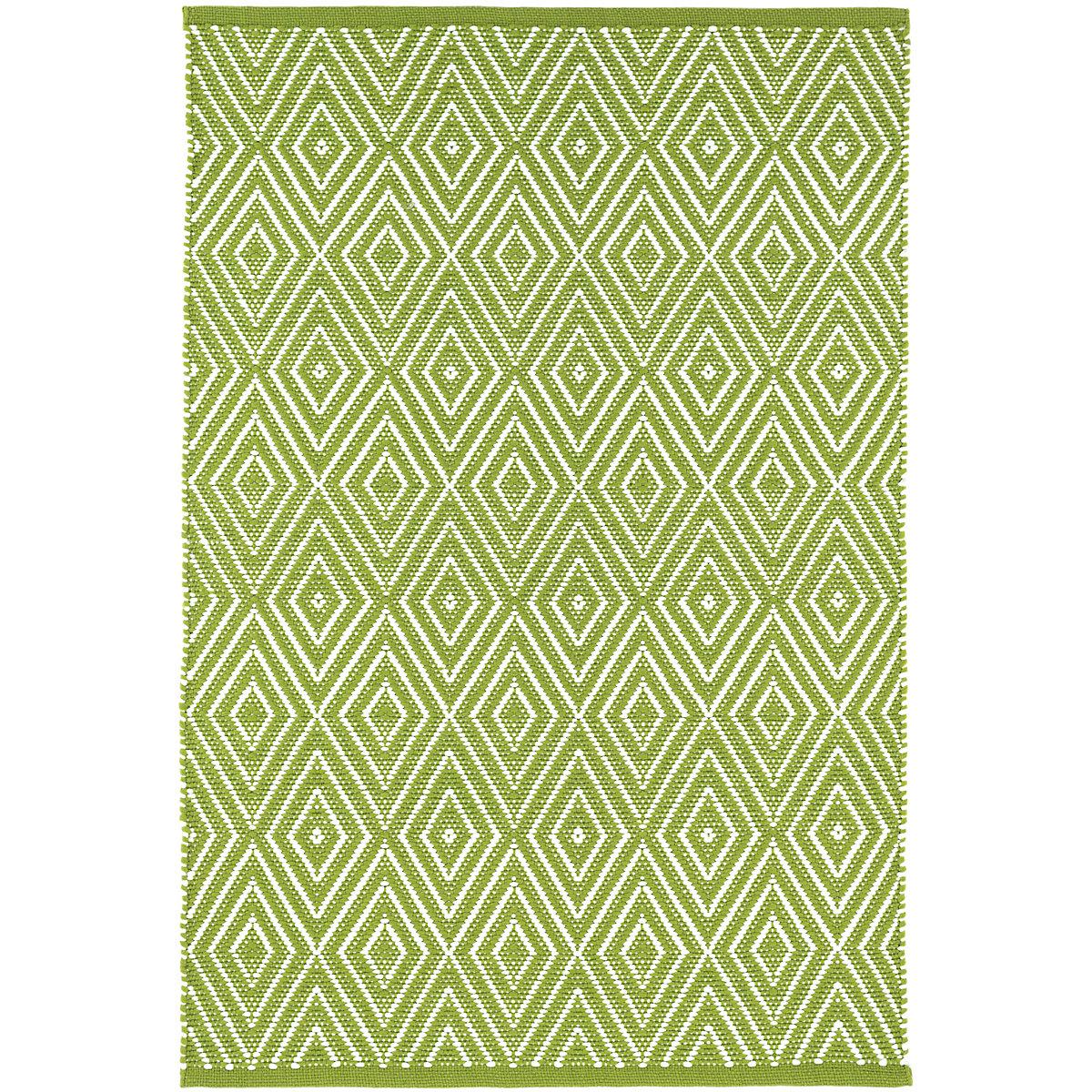Diamond Sprout/White Indoor/Outdoor Rug | Dash & Albert
