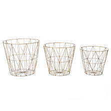 Diamond Wire Baskets/Set Of 3