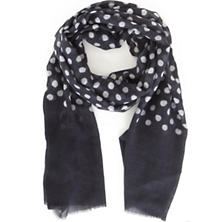Dots Charcoal Scarf