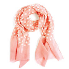 Dots Coral Scarf