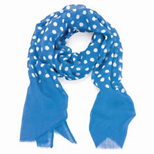 Dots French Blue Scarf