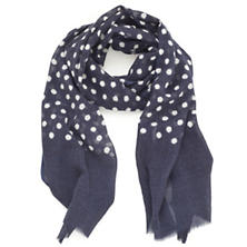 Dots Navy Scarf