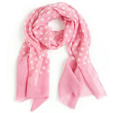 Dots Pink Scarf