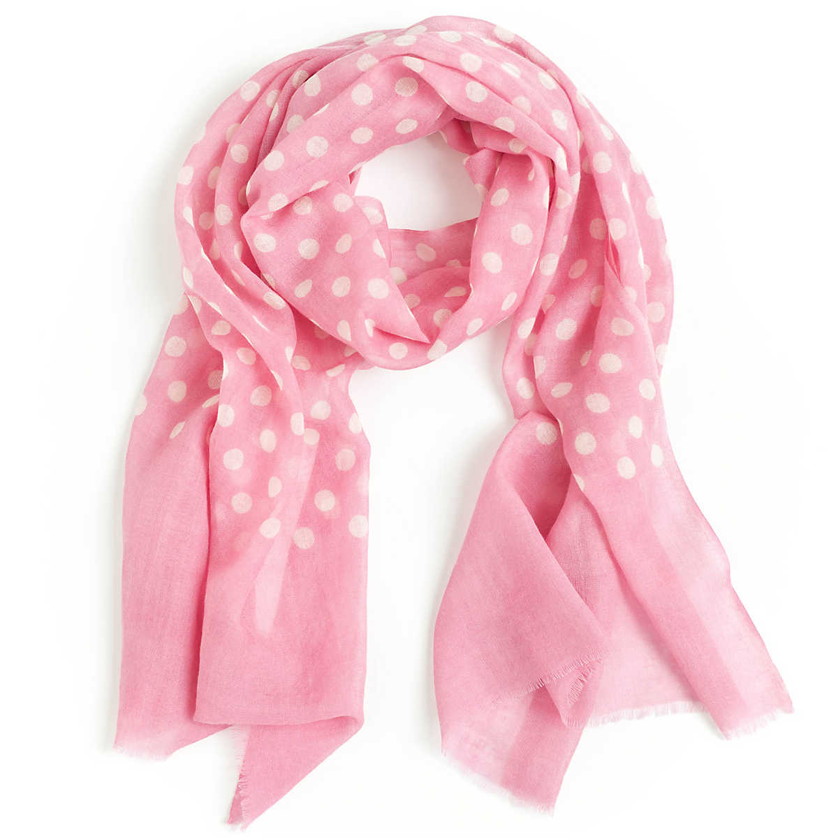 dots pink scarf the outlet