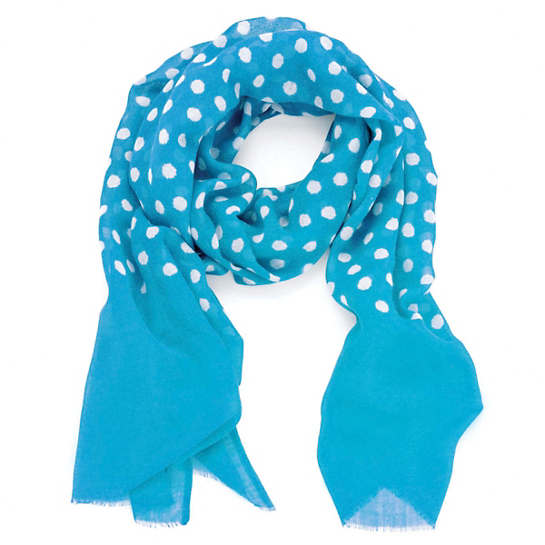 Dots Turquoise Scarf