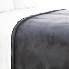 Dover Graphite Fleece Blanket