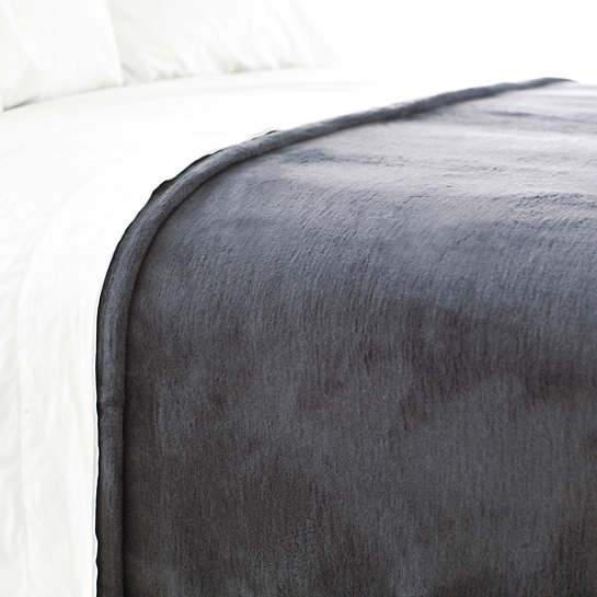 Dover Graphite Fleece Blanket