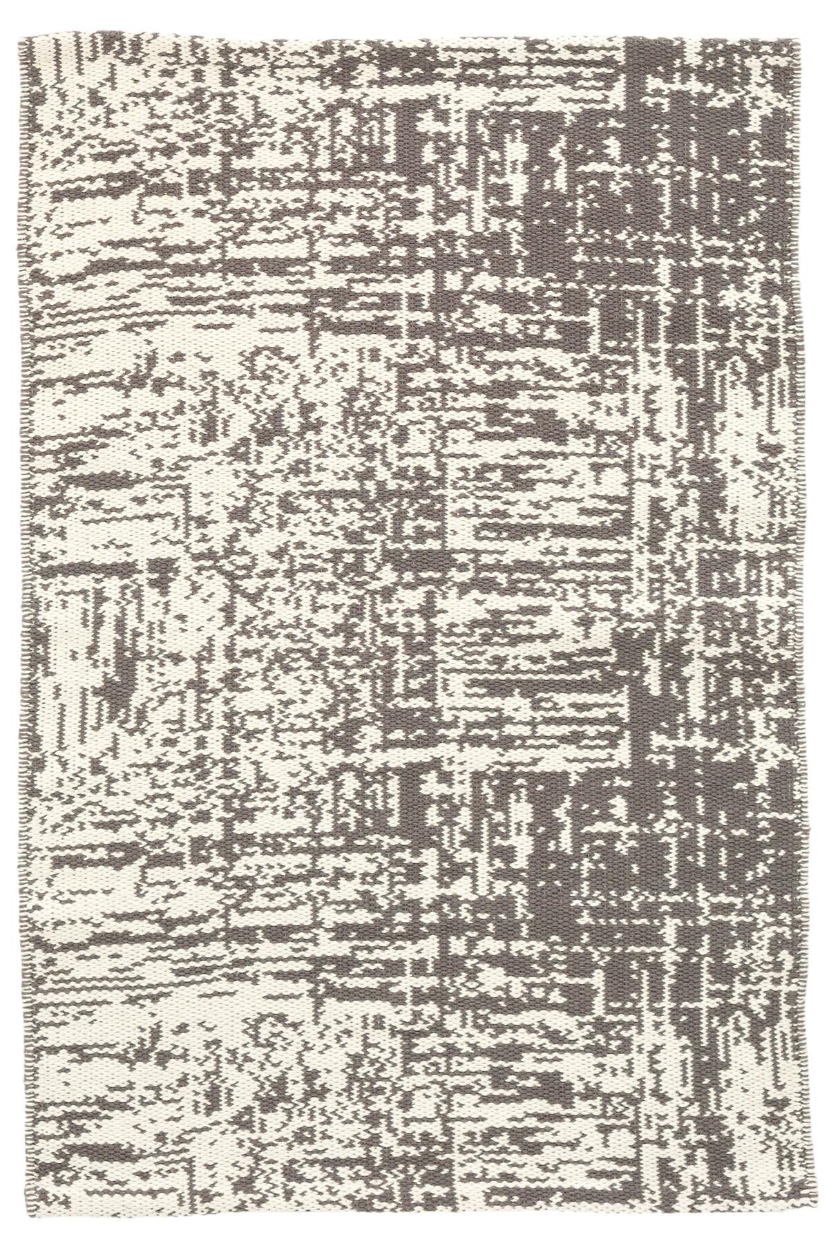 Drybrush Grey Woven Cotton Rug