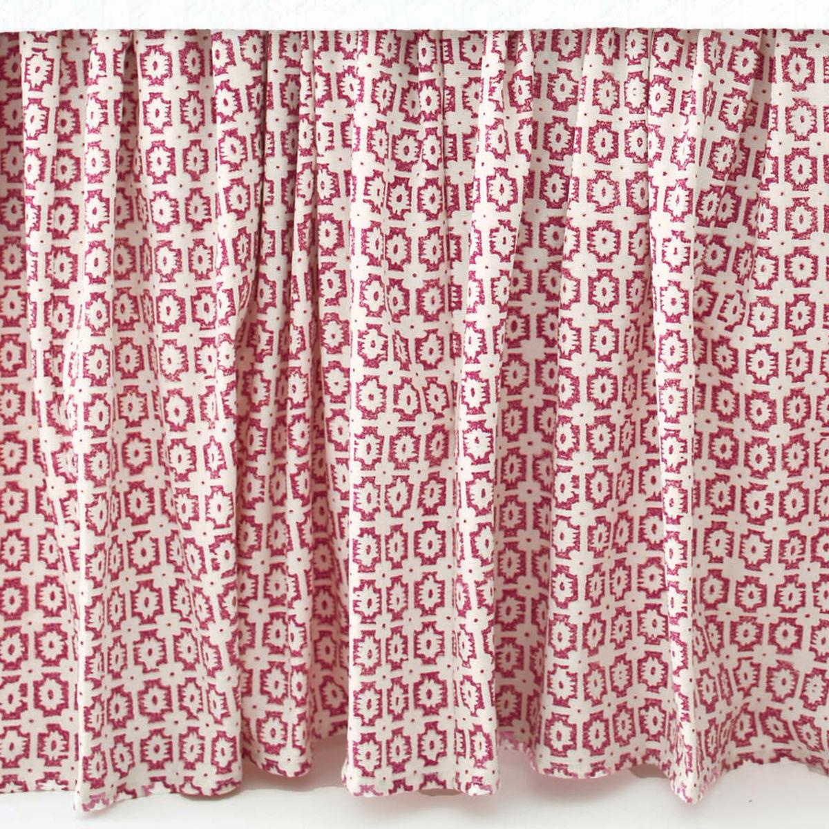 Esha Damask Pink Bed Skirt