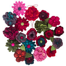 Fabulous Felt Flowers/Set Of 20