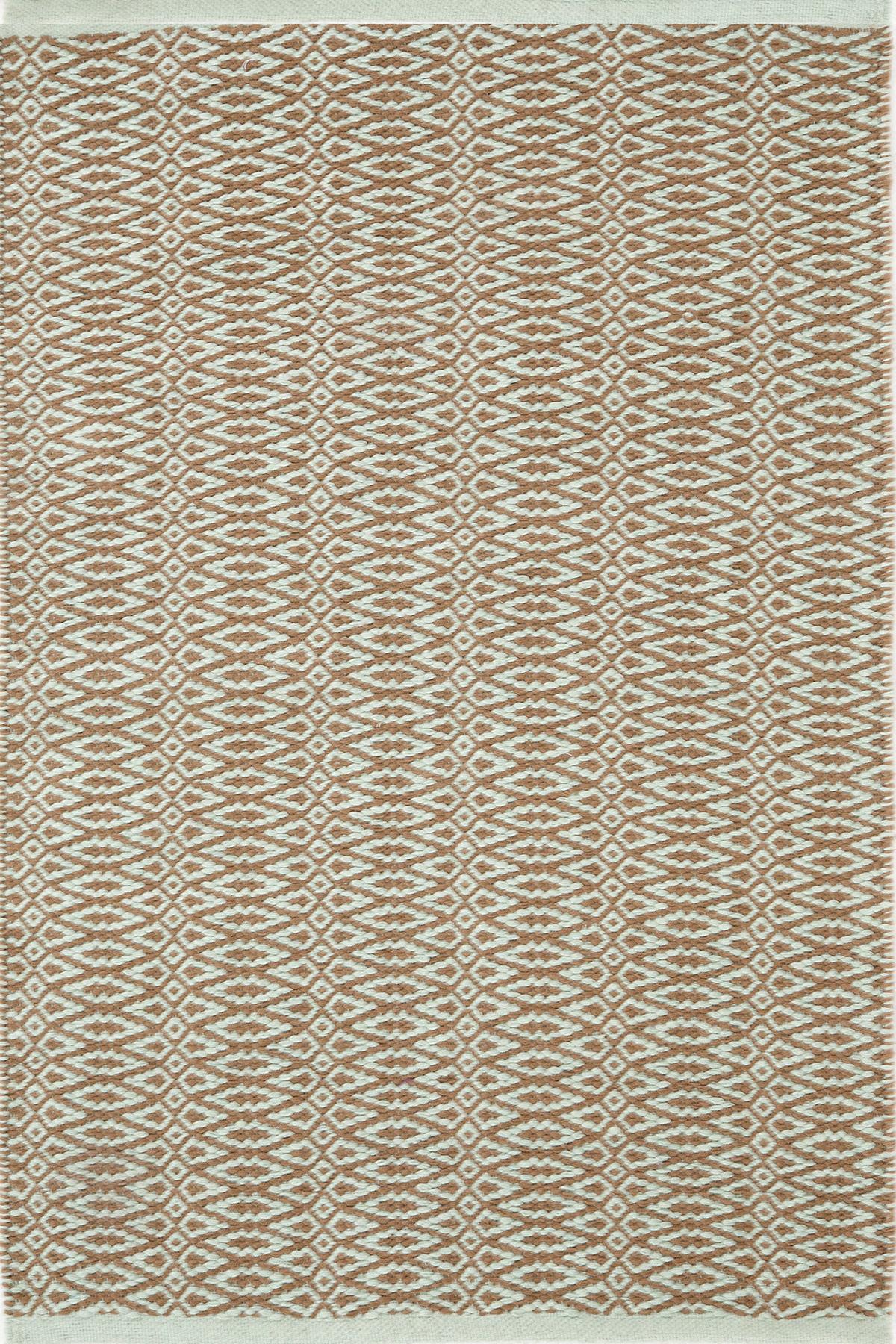 Fair Isle Ocean/Coffee Cotton  Woven  Rug