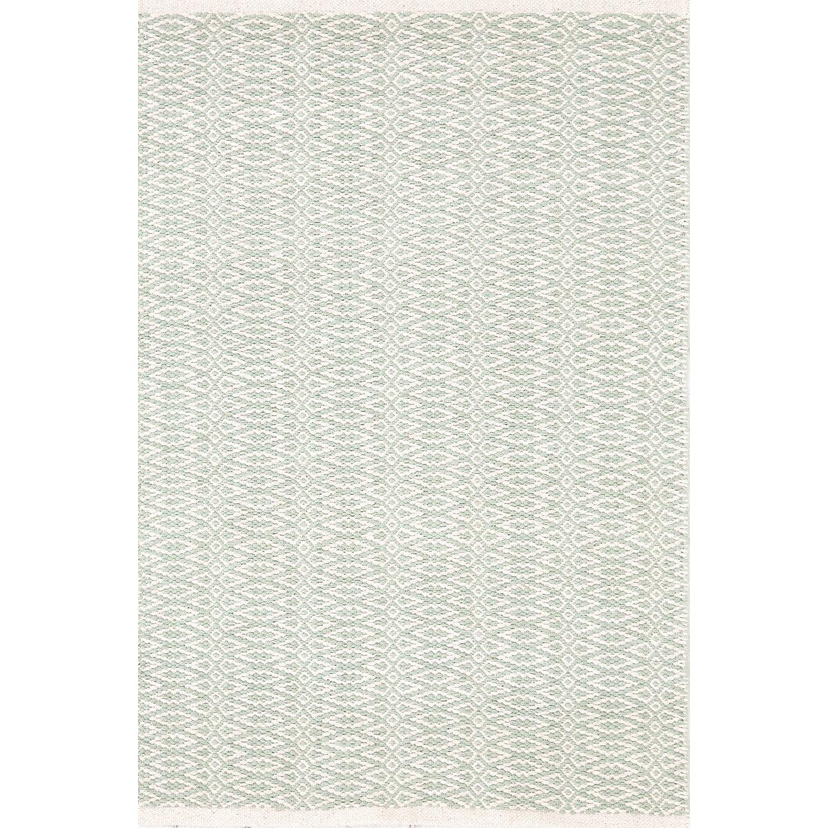 Fair isle ocean ivory cotton woven rug dash albert for Dash and albert blankets