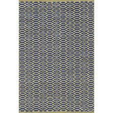 Fair Isle Rosemary/Ink Cotton Woven Rug
