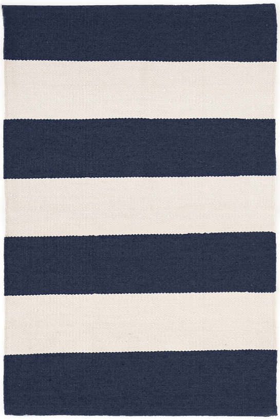 Falls Village Stripe Navy Indoor/Outdoor Rug