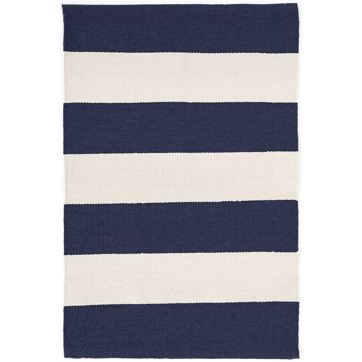 Falls Village Stripe Navy Indoor Outdoor Rug Dash Amp Albert