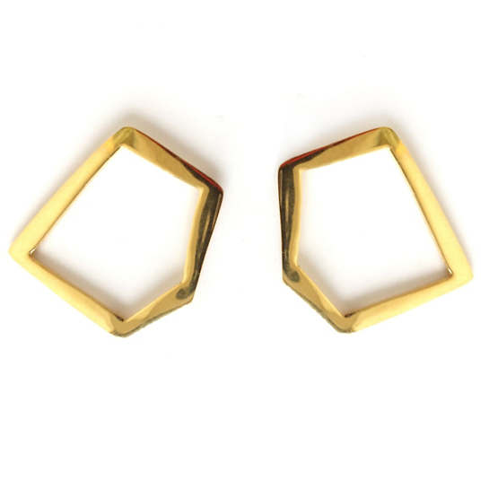 Ferguson Gold Front Hoop Earrings