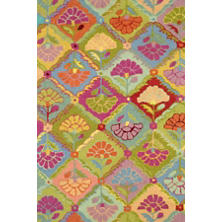 Field Of Flowers Wool Micro Hooked Rug