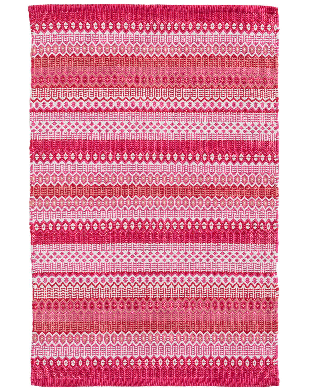 Fiesta Stripe Fuchsia/Red Indoor/Outdoor Rug