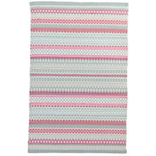 Fiesta Stripe Sky/Fuchsia Indoor/Outdoor Rug