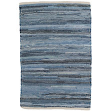 Fine Denim Rag Woven Cotton Rug