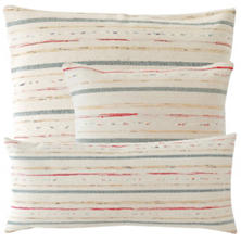 Fine Rag Ivory Woven Cotton Pillow