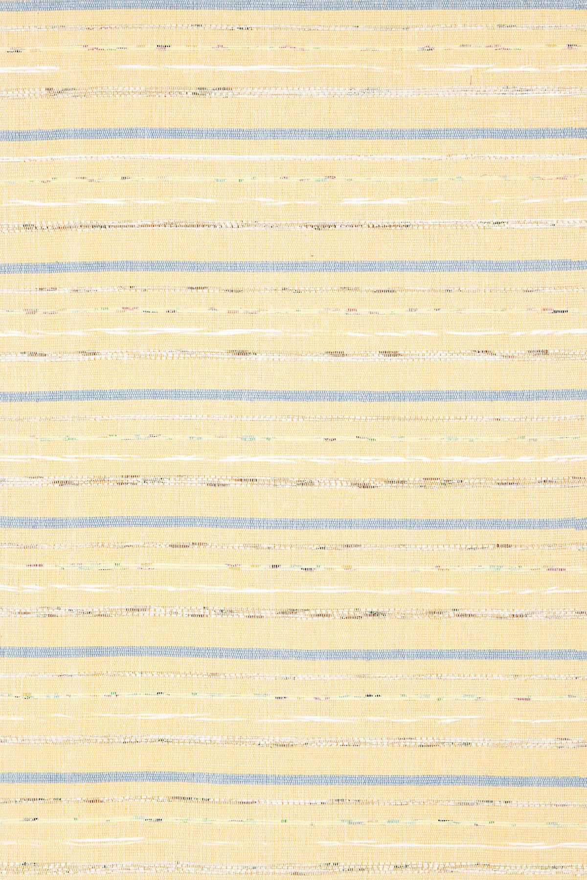 Fine Rag Yellow Woven Cotton Rug