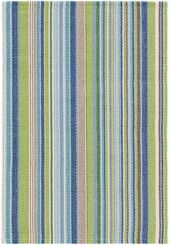Fisher Ticking Woven Cotton Rug : Dash u0026 Albert