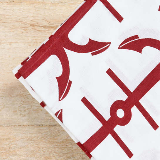 Fisherman Red Napkins/Set Of 4