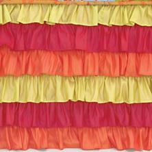 Flamenco Red/Orange/Green Bed Skirt