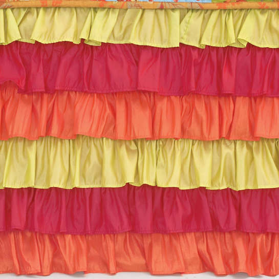 Flamenco Red/Orange/Green Bed Skirt