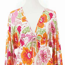 Flower Power Fuchsia/Orange Nightdress