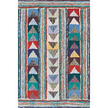 Follow The Arrows Cotton Yarn Hooked Rug