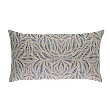 Fossil Embroidered Indigo Decorative Pillow