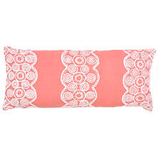 French Knot Coral Decorative Pillow Double Boudoir