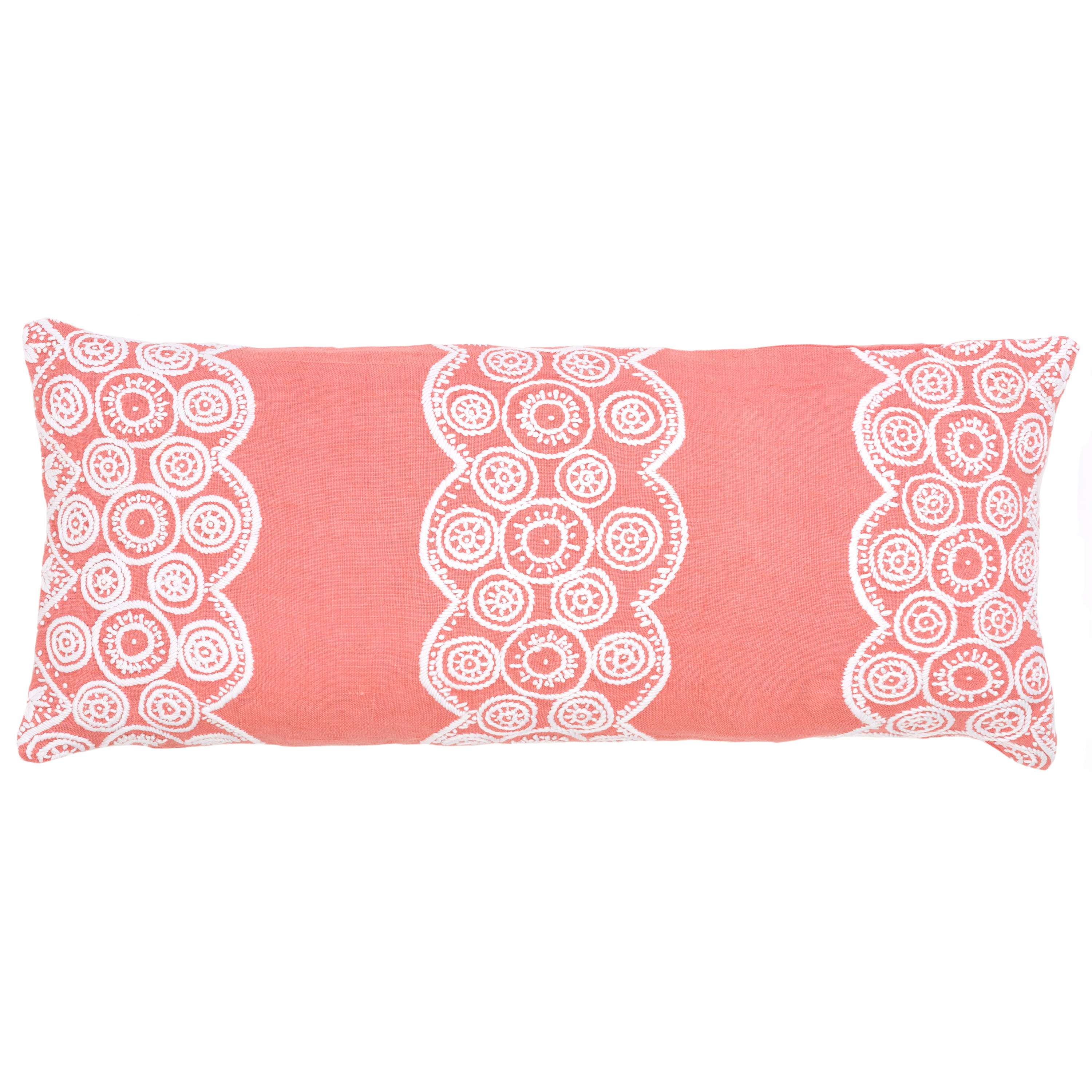 Decorative Pillows Outlet : French Knot Coral Decorative Pillow Double Boudoir The Outlet