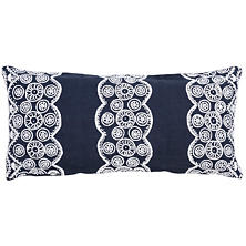 French Knot Indigo Decorative Pillow Double Boudoir