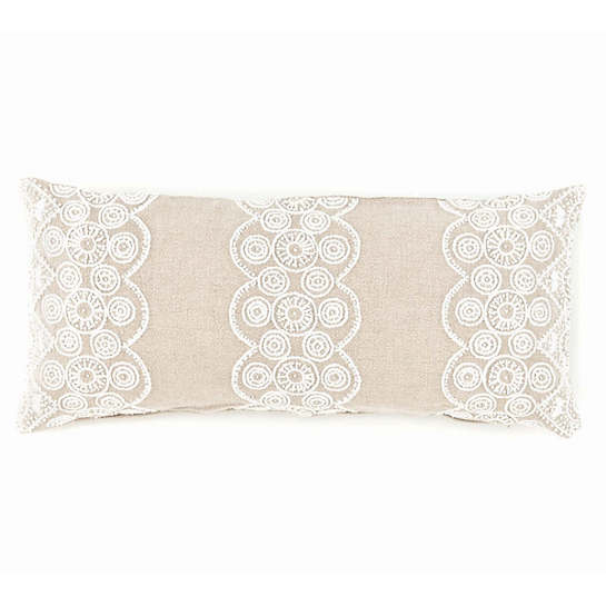 French Knot Natural Decorative Pillow