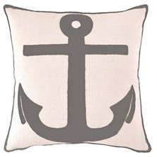 Fresh American Admiral Graphite Indoor/Outdoor Pillow