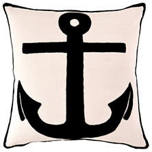 Admiral Ivory/Black Indoor/Outdoor Pillow